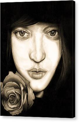 Self-portrait Canvas Print - Tina Ayres by Fred Larucci