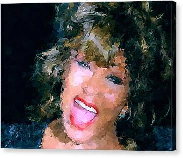 Tina Turner Live Canvas Print