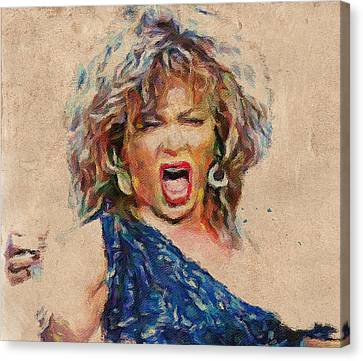 Tina Turner Portrait You Are The Best 1 Canvas Print