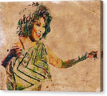Tina Turner Portrait You Are The Best 2 Canvas Print