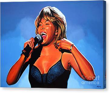 Tina Turner Queen Of Rock Canvas Print by Paul Meijering