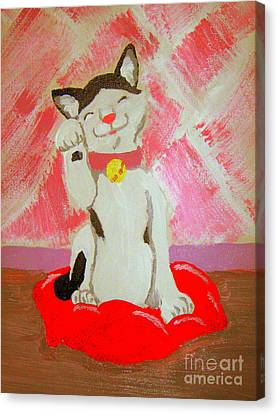 Canvas Print featuring the painting Tinkadinkadoo by Wendy Coulson