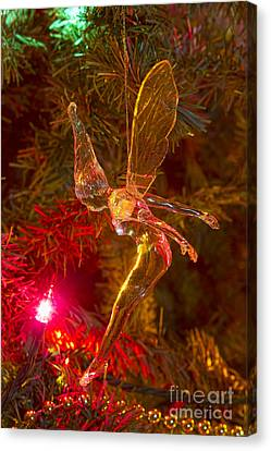 Tinker Bell Christmas Tree Landing Canvas Print by James BO  Insogna