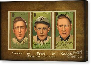 Tinker To Evers To Chance Canvas Print
