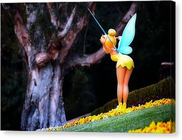 Tinkerbell Lands Canvas Print by Jim Robinson