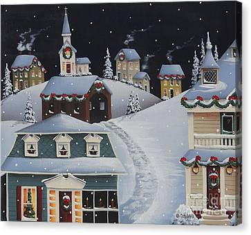 Tinsel Town Christmas Canvas Print by Catherine Holman