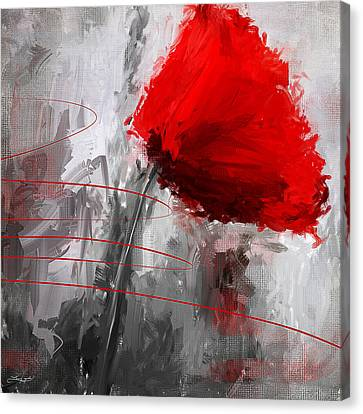 Memorial Canvas Print - Tint Of Red by Lourry Legarde