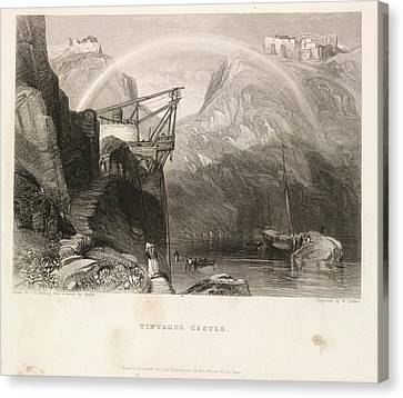 Tintagel Castle Canvas Print by British Library