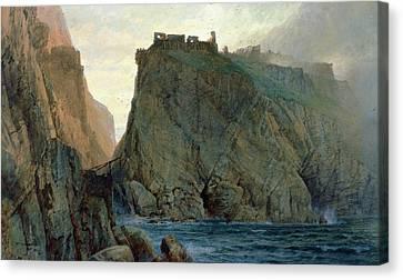 Arthurian Legend Canvas Print - Tintagel On The Cornish Coast by W T Richards