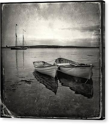 Tintype Boats 3 Canvas Print