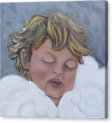 Tiny Angel Canvas Print by Melissa Torres