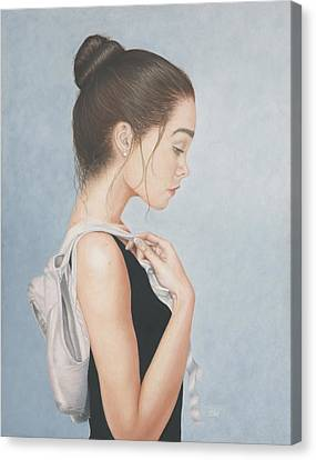 Canvas Print featuring the painting Tiny Dancer by Dee Dee  Whittle