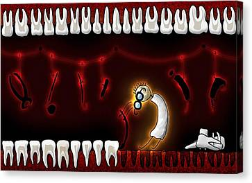 Tiny Dentist Canvas Print by Gianfranco Weiss