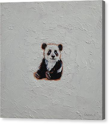 Tiny Panda Canvas Print by Michael Creese