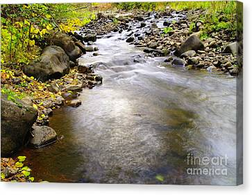 Tiny Rapids At The Bend  Canvas Print by Jeff Swan