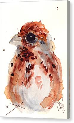 Tiny Sparrow Canvas Print by Dawn Derman