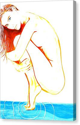 Canvas Print featuring the painting Tippy Toes by J Anthony