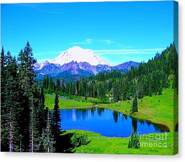 Tipsoo Lake Mount Rainier Canvas Print