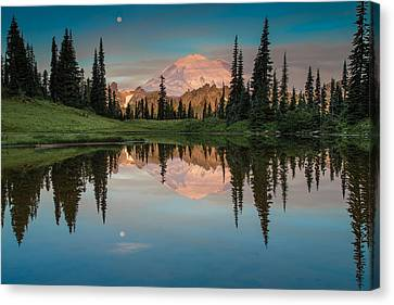 Tipsoo Lake Mt. Rainier Washington Canvas Print by Larry Marshall
