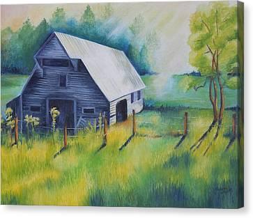 Tipton Barn Cades Cove Tn Canvas Print