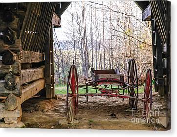 Tipton Cantilever Barn Canvas Print by Lynn Sprowl