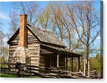 Side Porch Canvas Print - Tipton Hayes Cabin 2 by Douglas Barnett