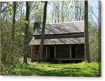 Tipton Place In Cades Cove Canvas Print by Roger Potts