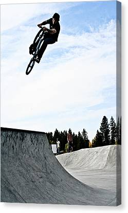Canvas Print featuring the photograph Tire Grab by Joel Loftus
