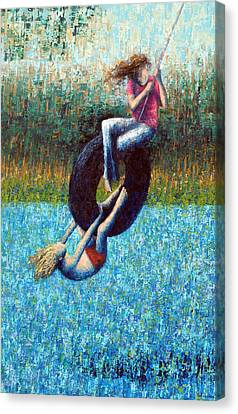 Tire Swing Canvas Print