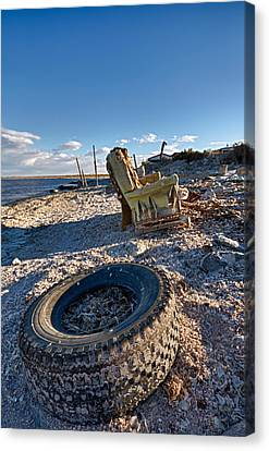 Tired Old Chair Canvas Print by Scott Campbell