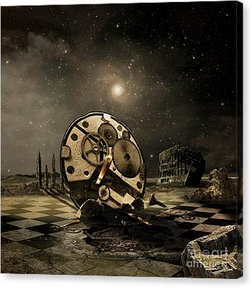 Tired Old Time Canvas Print by Franziskus Pfleghart