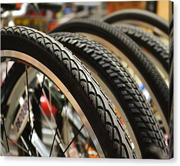 Canvas Print featuring the photograph Tires by Mary Zeman
