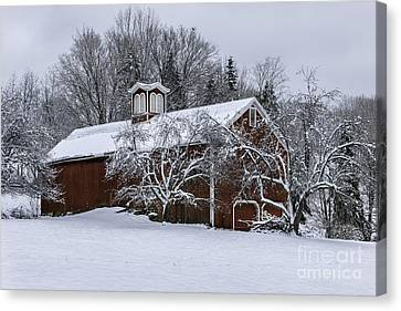 Old Country Roads Canvas Print - Tis The Season - A New England Scenic by Thomas Schoeller