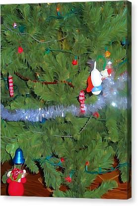 Tis The Season Watercolor Canvas Print by Dan Sproul