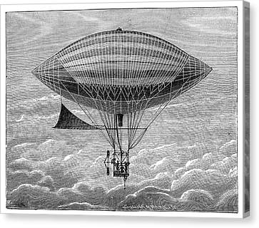Tissandier Electric Airship Canvas Print by Science Photo Library