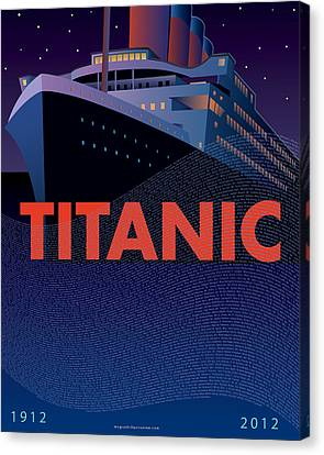Titanic 100 Years Commemorative Canvas Print by Leslie Alfred McGrath