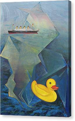 Titanic And The Ducky Canvas Print