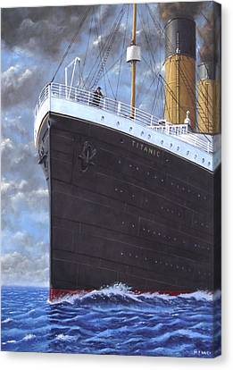 Titanic At Sea Full Speed Ahead Canvas Print