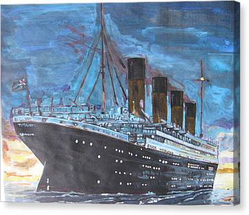 Titanic Into The Sunset Canvas Print