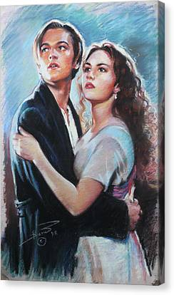 Titanic Jack And Rose Canvas Print by Viola El