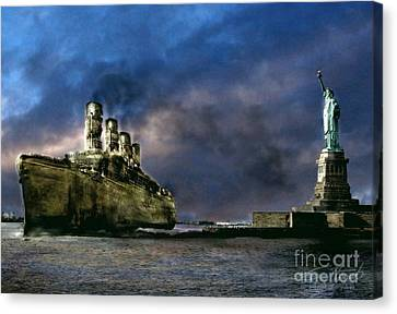 Titanic Late Arrival Canvas Print by Tom Straub