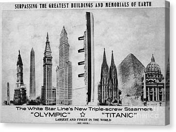 Titanic Postcard Canvas Print by The Titanic Project