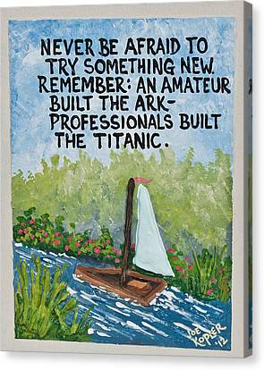 Titanic Quote Canvas Print by Joe Kopler