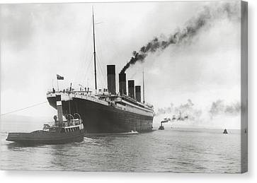 Titanic Ready For Her Maiden Voyage Canvas Print by English Photographer