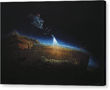 Titanic Wreck Save Our Souls Canvas Print by Martin Davey