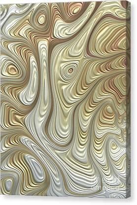 Celestial Canvas Print - Titanium Flow by John Edwards