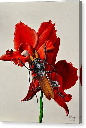 Titanus Canvas Print by MICHAUX Michel