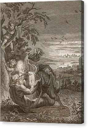 Tithonus, Auroras Husband, Turned Into A Grasshopper Canvas Print