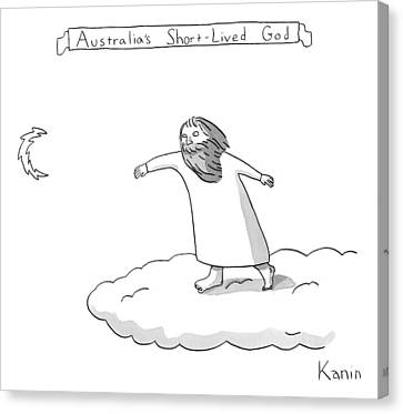 Title: Australia's Short-lived God. A God Throws Canvas Print by Zachary Kanin