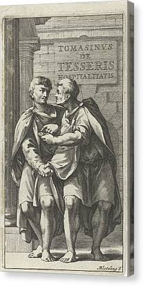 Title Page For A Treatise On Friendship In Ancient Society Canvas Print by Artokoloro